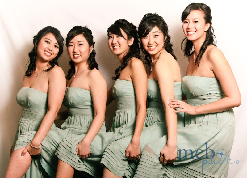Beautiful sage dresses, beautiful bridesmaids!