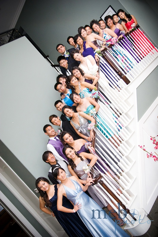 Everyone looking classy on the stairs!