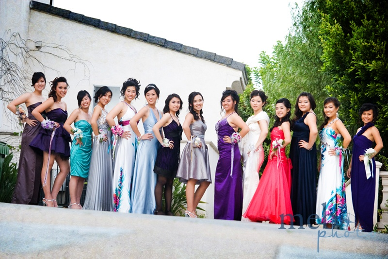 The ladies showing off their beautiful corsages and dresses!