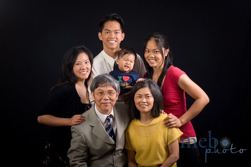 Our Yu family portrait! I love the look on Toby's face!