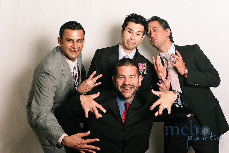 The groom and his boys throwin' the signs!