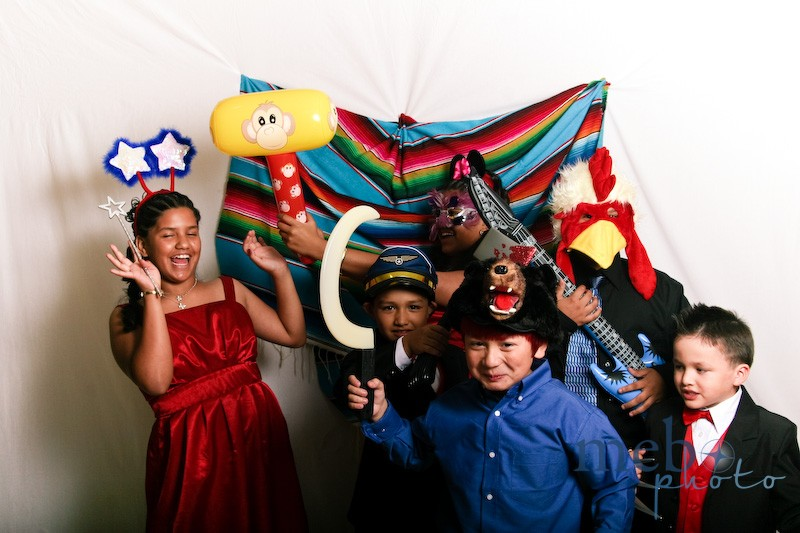 These kids were addicted to the photobooth. Who can blame them?