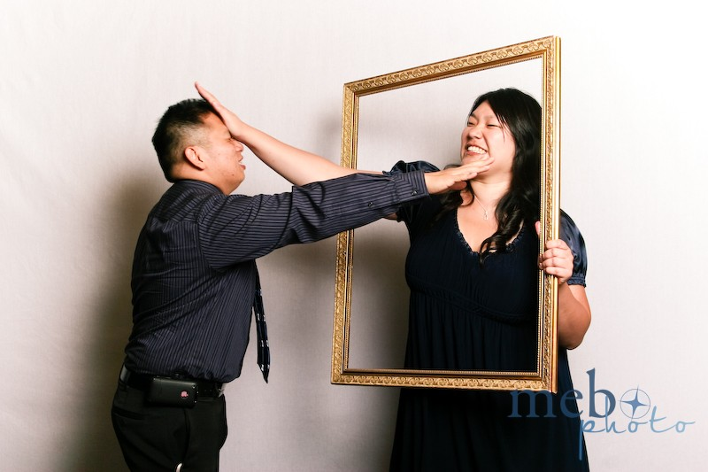"Not your typical ""cute"" couple's photo booth frame shot!"