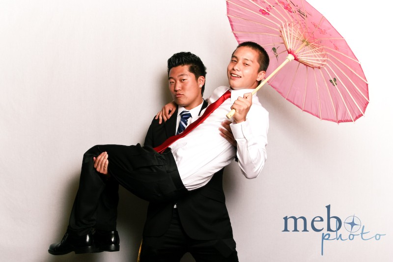 Strong enough to carry another man AND his parasol too!
