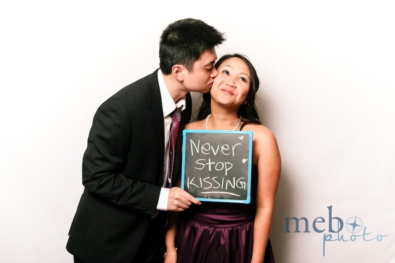 Wise advice to the bride and groom: Never stop kissing!!