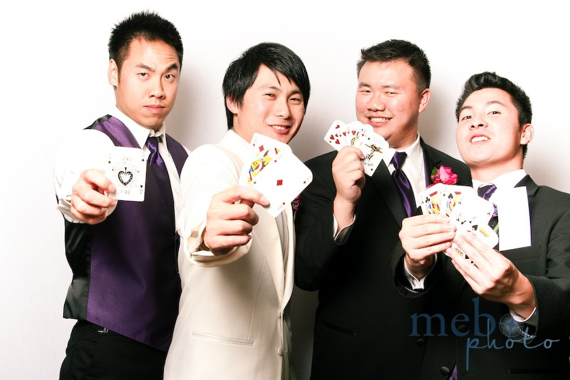 The groom's got the winning hand!