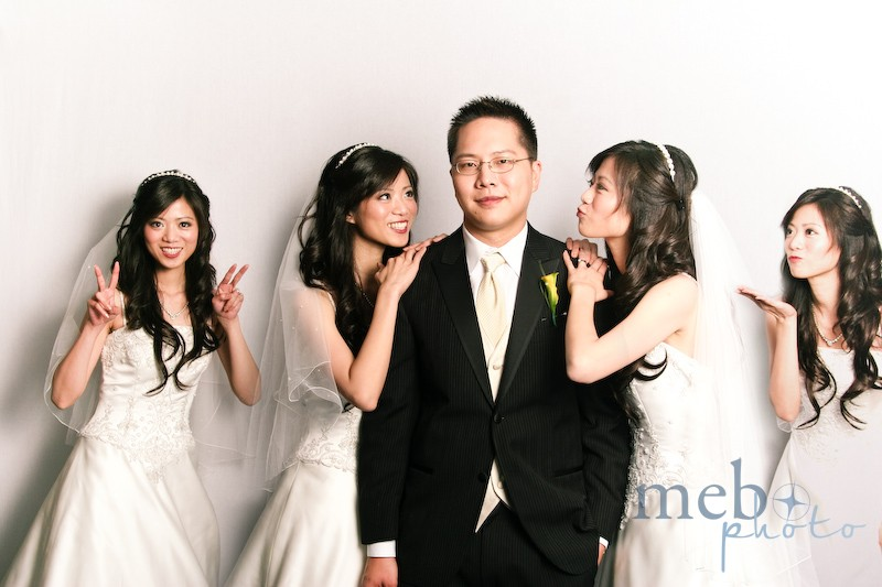 Lucky guy with four pretty brides!
