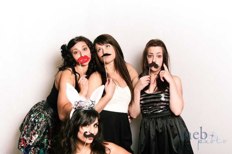 Beautiful girls with mustaches!
