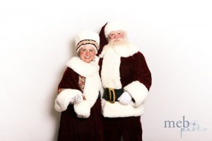 The classic photo of Santa and Mrs. Claus!