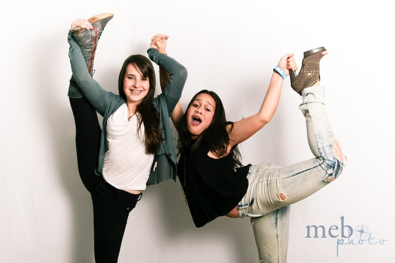 These girls sure were flexible! And thought of a creative way to show off their shoes!