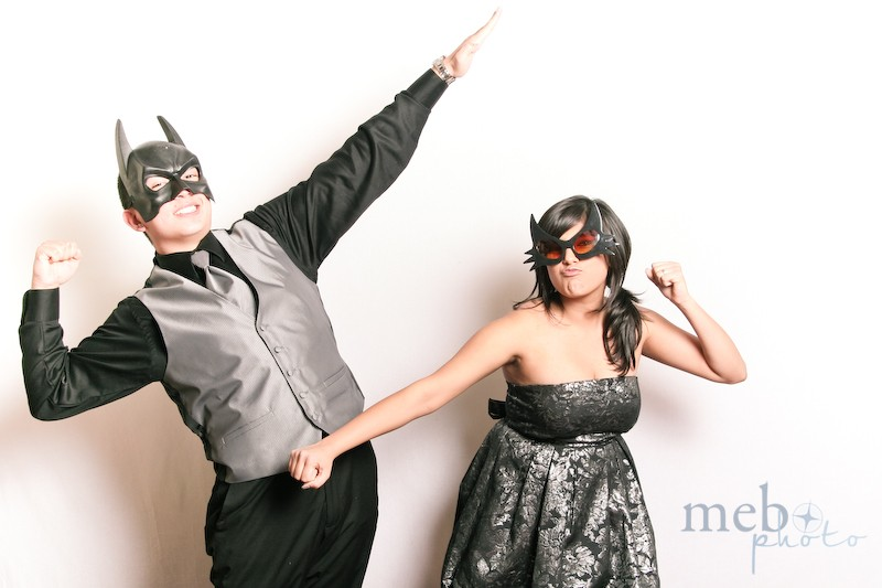 Batman and Catwoman looking tough to scare off those villains!