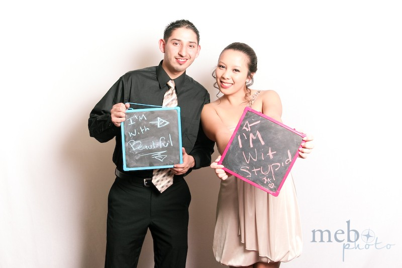 Scoring brownie points with his date!