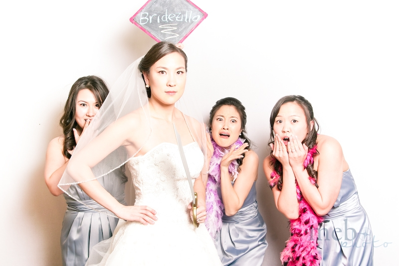 Bridezilla, striking fear in her bridesmaids...