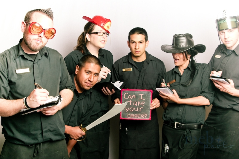 Wouldn't you want your orders to be taken by this wild bunch?