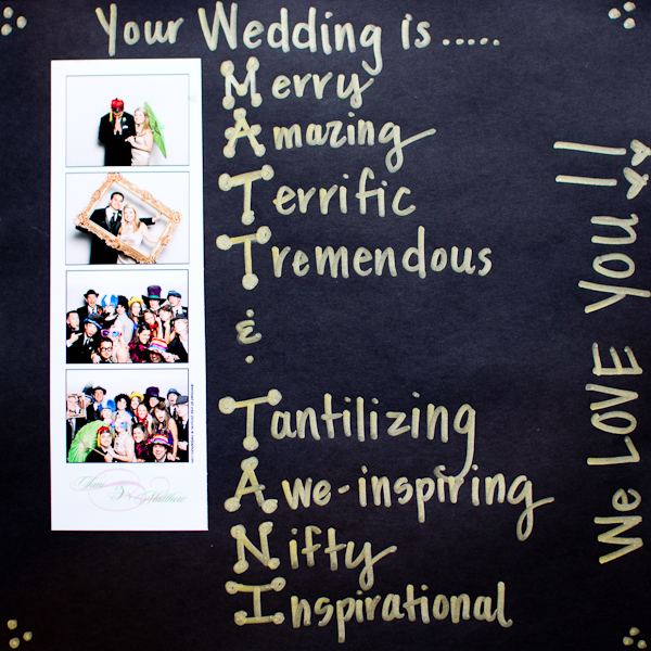 Photobooth acrostics! How could that NOT make it to our list of favorite pages?!